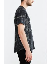 10.deep - Black Dotted Curved-hem Tee for Men - Lyst