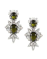 BCBGMAXAZRIA | Metallic Stone Drop Clip-on Earrings | Lyst