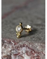 Free People - Yellow Maria Tash Jewelry Womens Diamond Trinity Helix Stud - Lyst