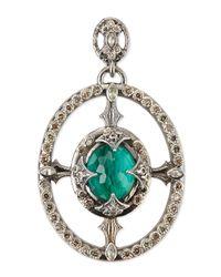 Armenta - Blue New World Oval Champagne Diamond Enhancer - Lyst