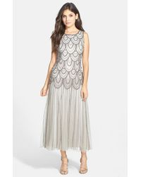 Pisarro Nights | Metallic Beaded Mesh Gown | Lyst