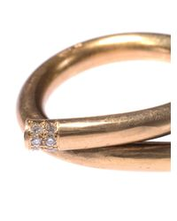 Lara Melchior - Metallic Bague I Diamond & Yellow Gold Ring - Lyst