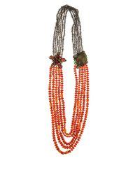 Iradj Moini | Orange Carnelian Flower Necklace | Lyst