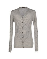 John Richmond | Gray Cardigan for Men | Lyst