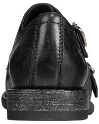 Frye | Black Ethan Double Monk Flats | Lyst