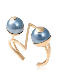 Leivan Kash - Metallic Mata Cuff Bracelet - Lyst
