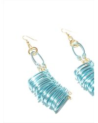 Kirsty Ward | Blue Alu Loops Earrings | Lyst
