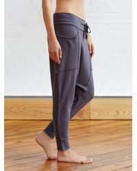 Free People - Gray Right On Pant Battu Cover Up - Lyst