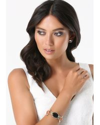 Bebe | Metallic Malachite Hinge Bracelet | Lyst