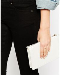 ASOS | Blue Fine Chain Linked Rings | Lyst