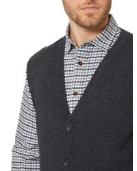 Howick | Gray Arlington Sleeveless 100% Lambswool Cardigan for Men | Lyst