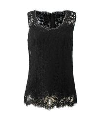 Dolce & Gabbana - Black Fitted Lace Cami - Lyst