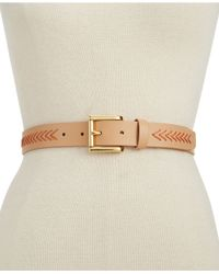Vince Camuto | Pink Belt With Chevron Lacing | Lyst