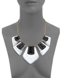 Alexis Bittar | Multicolor Sport Deco Lucite & Crystal Articulated Bib Necklace | Lyst