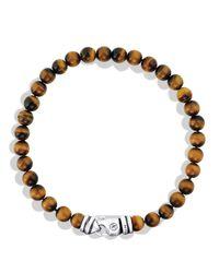 David Yurman | Metallic Spiritual Beads Bracelet With Tiger's Eye for Men | Lyst