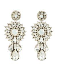 Deepa Gurnani | Metallic Starlight Crystal Earring | Lyst