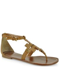 Tory Burch - Brown Phoebe Flat Sandal - Lyst