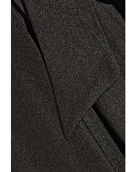 Badgley Mischka - Black Two-Tone Satin-Crepe Dress - Lyst