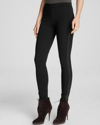 Burberry - Black London Pants Ottery Leather Piped - Lyst
