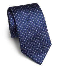 Saks Fifth Avenue | Blue Textured Dot Silk Tie for Men | Lyst
