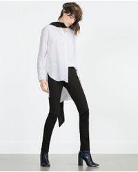 Zara   Black Skinny Trousers   Lyst