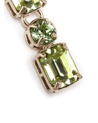 Valentino | Green Rhinestone Earrings | Lyst