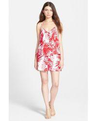 Plenty by Tracy Reese - Red Swingy Print Romper - Lyst