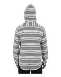 Billabong - Gray Upstate Long Sleeve Hooded Flannel for Men - Lyst