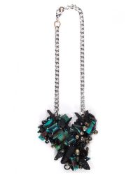 Subversive Jewelry | Blue Turquoise And Black Quartz Couture Necklace | Lyst