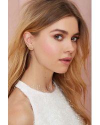 Nasty Gal | Metallic On The Kisser Earrings | Lyst