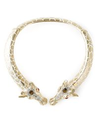 Roberto Cavalli | Metallic Giraffes Rigid Necklace | Lyst