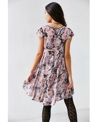 Kimchi Blue - Pink Elizabeth Angled Bodice Dress - Lyst