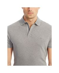 Ralph Lauren Black Label | Beige Mesh Zip Collar Polo Shirt for Men | Lyst