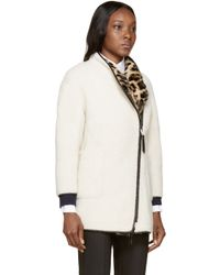 Burberry Prorsum | White Shearling And Rabbit Fur Coat | Lyst