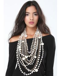 Bebe | Metallic Pearlescent Chunky Necklace | Lyst