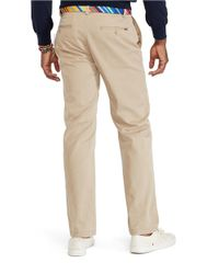 Polo Ralph Lauren | Natural Flat-Front Cotton Twill Pants for Men | Lyst