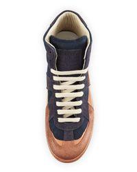 Maison Margiela - Blue Replica Multicolored Leather High-top Sneaker - Lyst