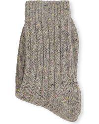 Brunello Cucinelli | Gray Cashmere Socks | Lyst