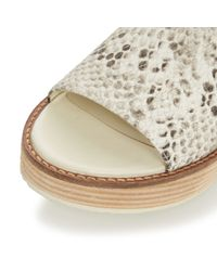 Dune - Natural Lonzo Reptile Effect Leather Flatform Slingback Sandals - Lyst
