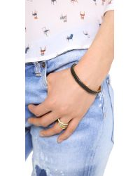 Marc By Marc Jacobs - Black Leather Cuff Bracelet - Lyst