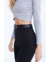Silence + Noise - Gray Noelle Cropped Top - Lyst