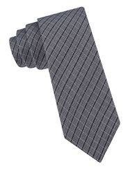 Calvin Klein | Black Textured Tie for Men | Lyst