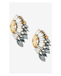 Express | Gray Mixed Stone Post Earrings | Lyst