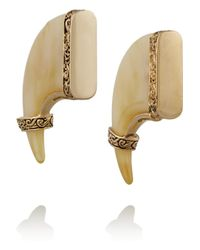 Lulu Frost | Metallic Cleo Gold-Plated Resin Talon Earrings | Lyst