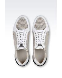 Emporio Armani - Gray Sneaker In Branded Fabric for Men - Lyst