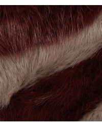 Reiss | Brown Filipa Faux Fur Scarf | Lyst