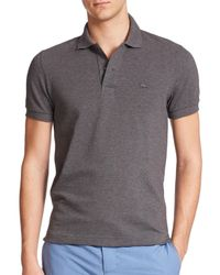 Lacoste | Gray Tonal Croc Pique Polo for Men | Lyst