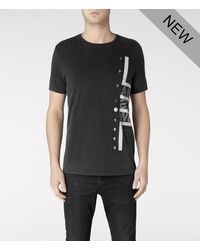 AllSaints - Black Vision Crew Tshirt for Men - Lyst