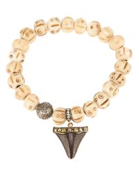Loree Rodkin | Natural Beaded Shark Tooth Bracelet | Lyst