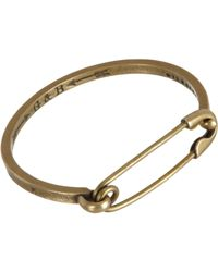 Giles & Brother - Metallic Brass Safety Pin Id Cuff for Men - Lyst
